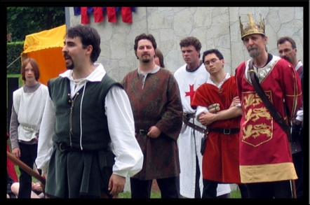 Robin Hood Addresses the crowd from the Tournament Ring (2005).