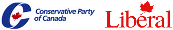 Conservative Party Logo and Liberal Party Logo
