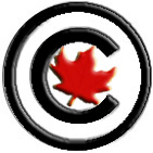 Copyright symbol with maple leaf