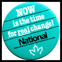 political party campaign button