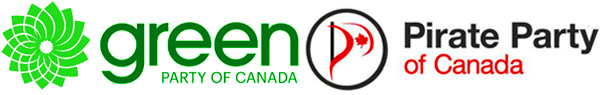 Green Party Logo and Pirate Party Logo