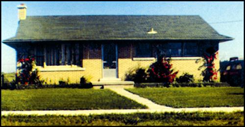 suburban bungalow circa 1960's