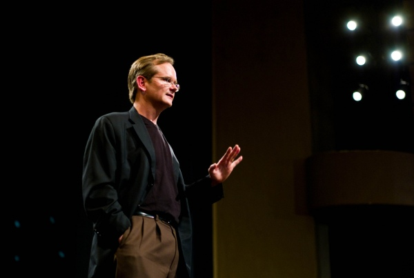 Lawrence Lessig delivering a lecture