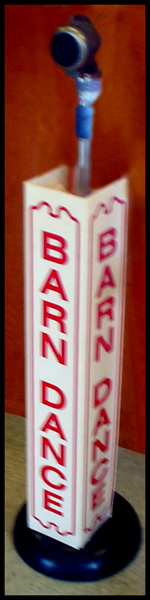 1950's vintage microphone with a Barndance stage cover