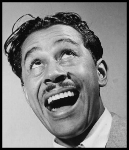 Close up laughing portrait of Cab Calloway
