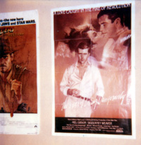 The Year of Living Dangerously Poster with a bit of Raiders on the side