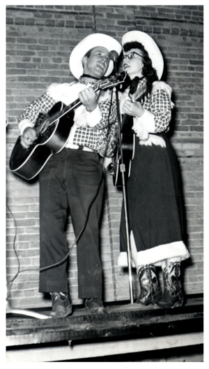 Lynn and Laura Russwurm performing on stage