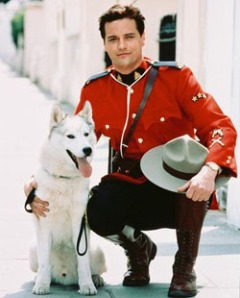Wolf and mountie, the Canadian stars of Due South: Benton and Diefenbaker