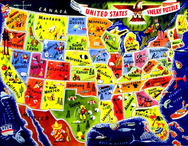 Puzzle Map of the USA