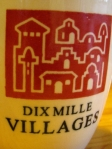 Dix Mille Villages with logo on the cup