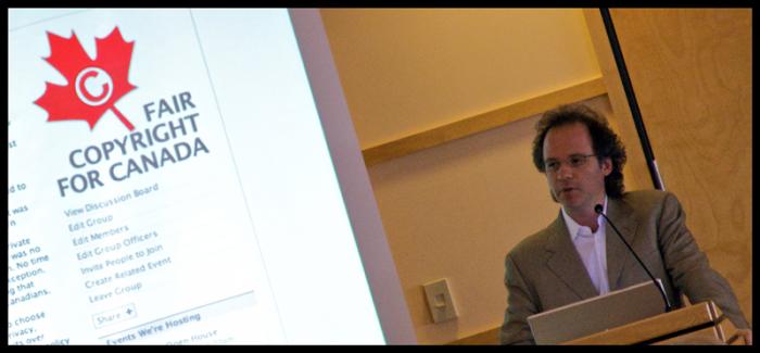 Geist speaking on Fair Copyright at the University of 2008
