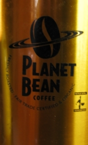 Planet Bean logo on Cannister