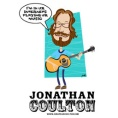 CD cover art - bearded guitar playing caricature