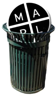 MAPL symbol in a garbage can