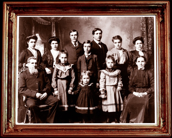 early 20th century family studio portrait