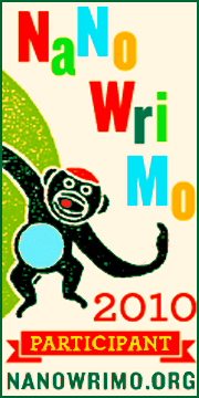 Monkey Blog Badge for NaNoWriMo 2010 Participant