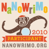 2010 NaNoWriMo Participant monkey Blog Badge