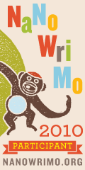 NaNoWriMo Participant 2010 - large monkey badge