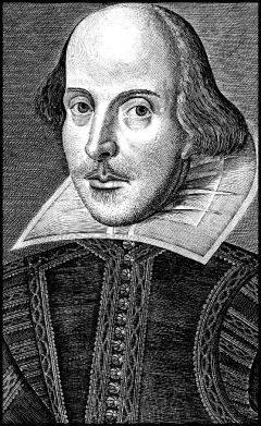 Copper engraving of Shakespeare found on Title page of the First Folio