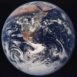 Apollo 17 full Earth photograph
