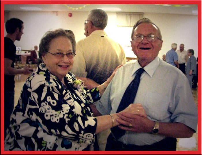 Lincoln+Hilda dance at their 60th anniversary