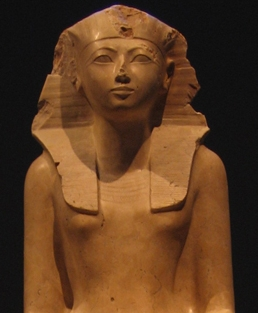 Part of the statue of Hatshepsut at the Metropolitan Museum of Art