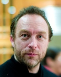 portrait of Wikipedia founder Jimmy Wales