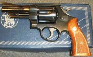 revolver in a case