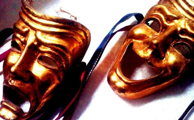 gold masks from the Stratford Shakespeare Festival
