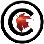 "Copyright ""c"" with Maple Leaf"