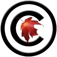 A Maple leaf enclosed in the copyright symbol
