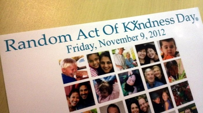 the top of the poster reads Random Act of Kindness Day®