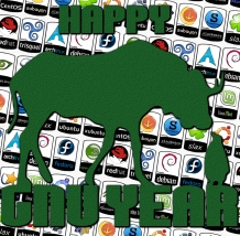 Happy GNU Year Green (cc by-sa)