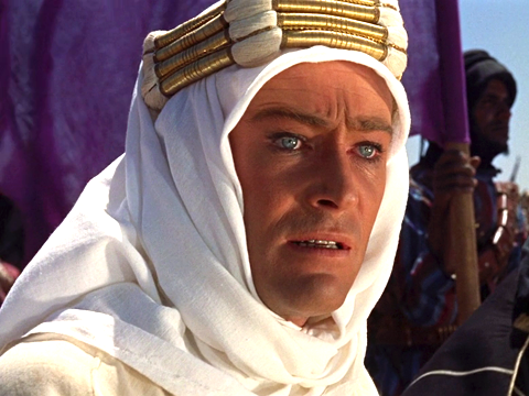 "Peter O'Toole in ""Lawrence of Arabia"""