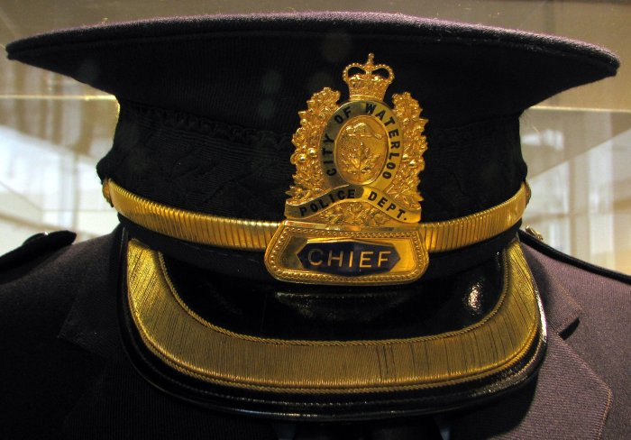 Early 20th century Waterloo Police Chief's hat