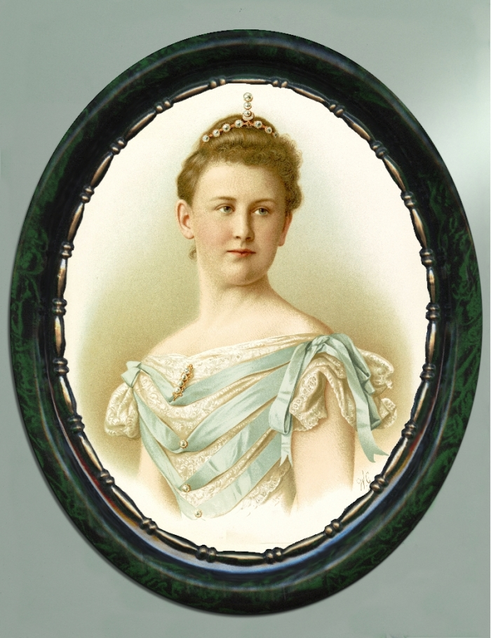 Portrait of Queen Wilhelmina circa 1898 by WG