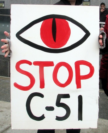 Sauron Says Stop Bill C-51